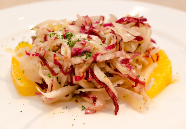 Radicchio, Belgian Endive, and Shaved Fennel with Citrus Vinaigrette