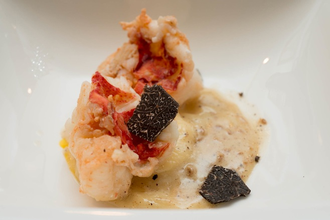 Ricotta Ravioli with Canadian Lobster, Winter Truffles, Butternut Squash, and Brown Butter Beurre Blanc