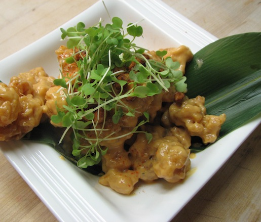 Rock Shrimp with Coconut Sriracha