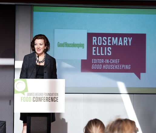 Good Housekeeping editor-in-chief Rosemary Ellis addresses the conference attendees
