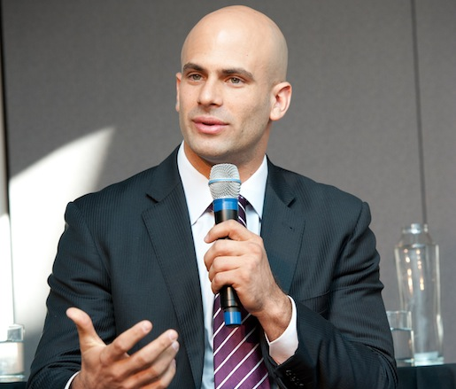 "White House chef and senior policy advisor Sam Kass participating in our panel: ""Leadership and Trust in the Public Sector"""