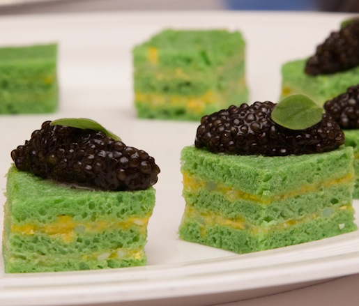 Tea Sandwiches with Osetra Caviar and Fines Herbes