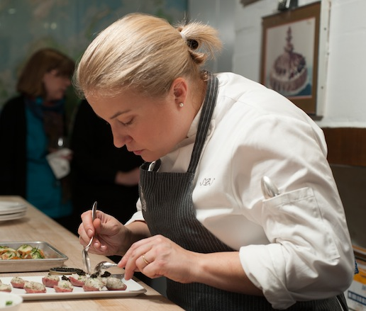 Sarah Schafer at the James Beard House