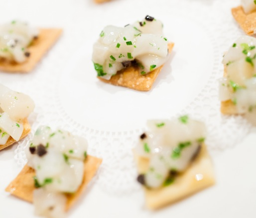 Tartare de St. Jacques > Sea Scallop Tartare with Black Truffles