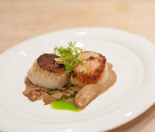Seared Sea Scallops with Porcini and Foie Gras Butter