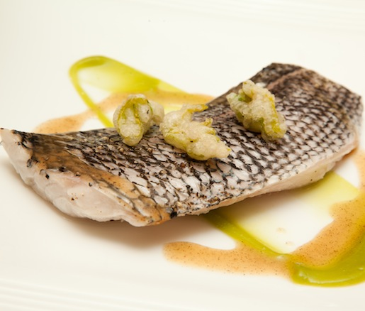 Black Sea Bass with Celery Textures and Lemon Brown Butter