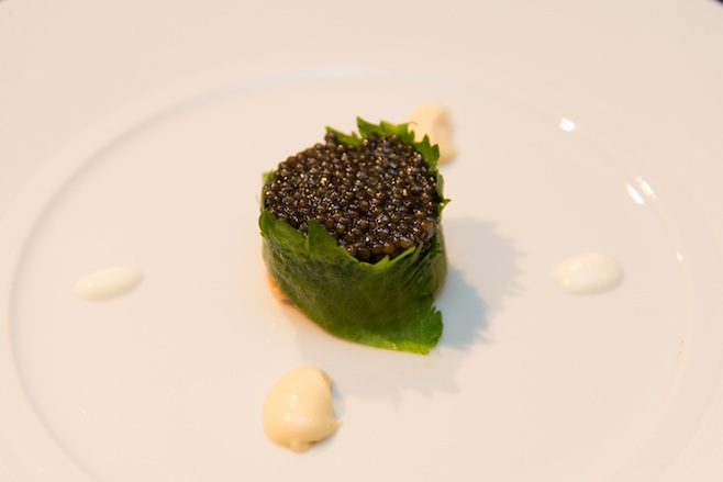 Malibu Sea Urchin​ with Dayboat Monkfish Liver and Golden Osetra Caviar