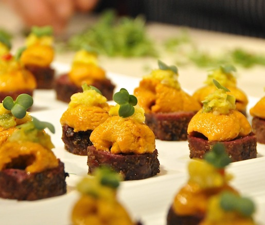 Smoked and Togarashi-Spiced Short Ribs with Uni and Orange Gremolata