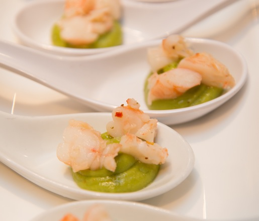Pickled Bay Shrimp–Avocado Mousse