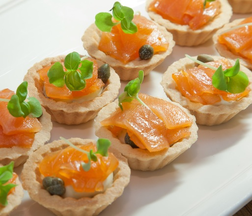 Smoked Salmon, Cream Cheese, and Truffle Mousse
