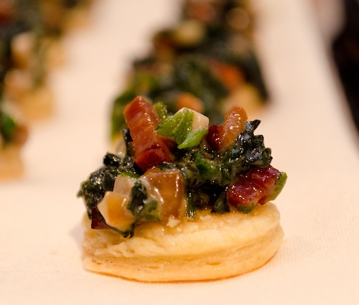 Stinging Nettle, Snail, and Smoked Bacon Tartlets