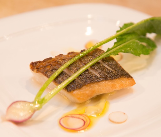 Salt-Baked Striped Bass with Caper Aïoli and Radish Salad