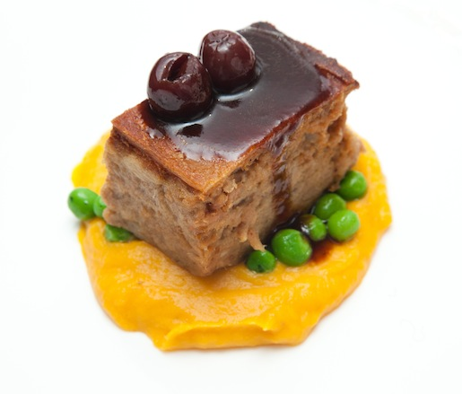 Ontario Suckling Pig Terrine with English Peas and Butternut Squash Purée