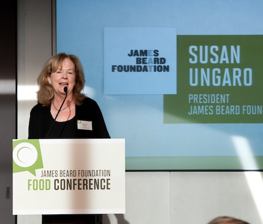 JBF president Susan Ungaro addresses the conference attendees