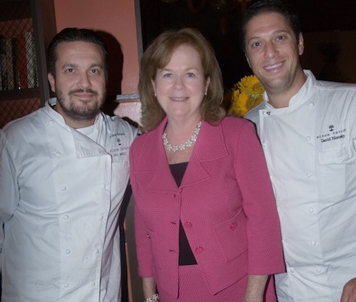 Fabio Vivani, David Blonsky, and James Beard Foundation President Susan Ungaro