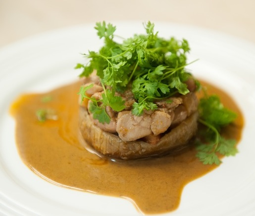 Braised Sweetbreads and Artichokes with Crayfish Coulis