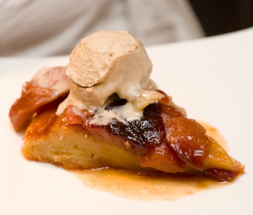 Pear Tarte Tatin with Rosemary–Chestnut Ice Cream