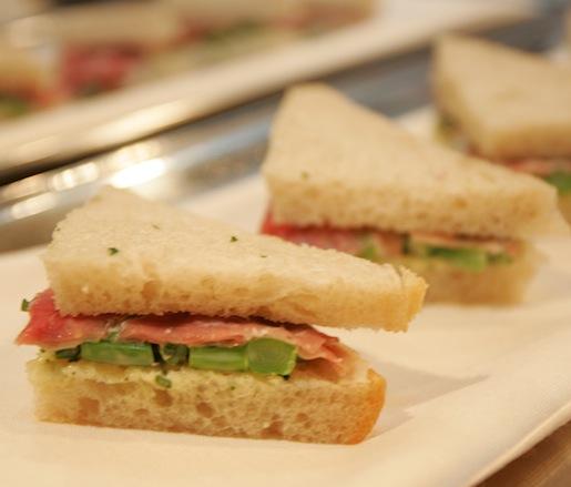 Asparagus–Olli Salumeria Prosciutto Tea Sandwiches