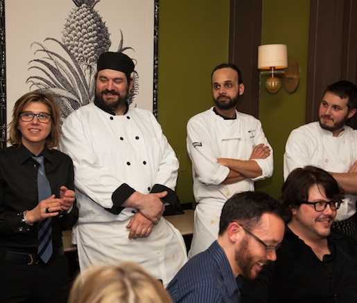 Krista Kranyak, Eric Cooper, Sean Callahan, and Dan Janus at the Beard House