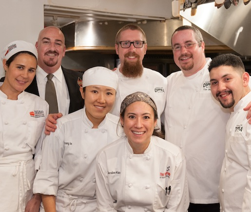 Chef Tim Bodell and his team at the Beard House