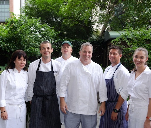 Chef John Greeley and his team at the Beard House