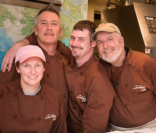 Chefs Alisa Huntsman, Bart Pickens, Daniel Dillingham, and George Harvell at the Beard House
