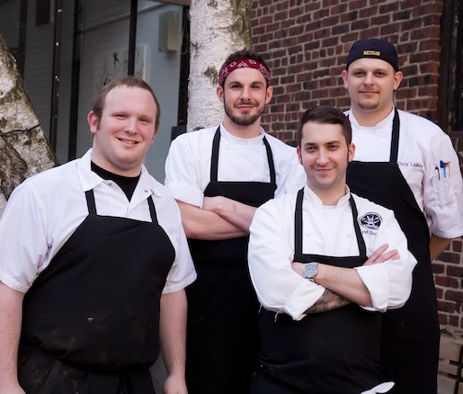 Chef Pat Szoke with members of his team at the Beard House