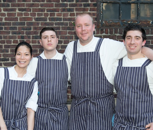 Chef Justin Smillie with members of his team at the Beard House