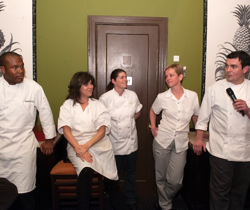 Frederic Kieffer with members of his team at the Beard House