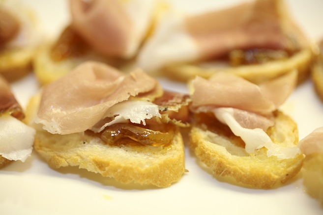 One-Year-Old Clyde Common Ham Crostini with Tangerine Preserves
