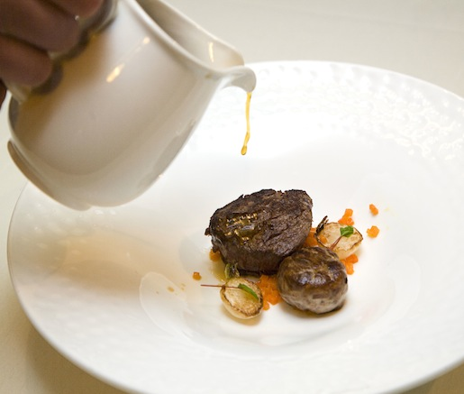 Future > Rare Beef Tenderloin and 48-Hour Spiced Beef Shank with Intense Porcini Bouillon and Caramelized Turnips