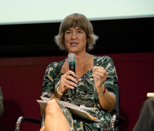"JBF Leadership Award winner and Rainforest Alliance president Tensie Whelan participates in our panel: ""Certifying Trust"""