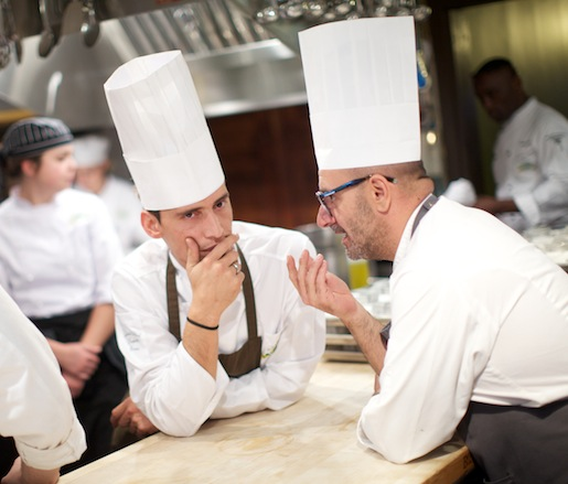 Andrea Trapani and Simone De Castro in the Beard House kitchen
