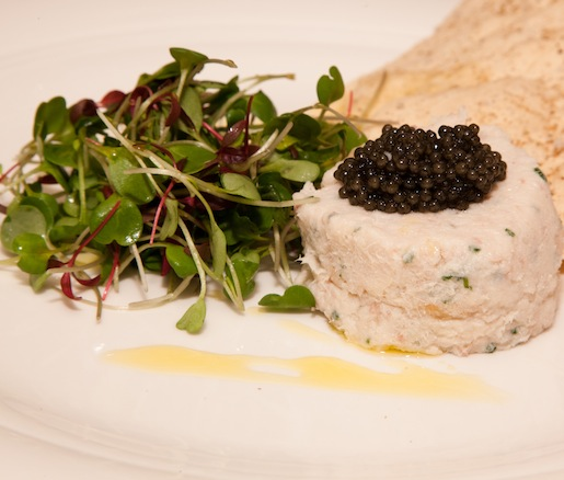 Trout Salad with Missouri Caviar