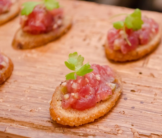 Tuna Tapenade on Lemon Sourdough Toasts