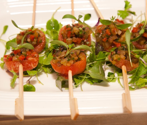 Spring Vegetable Brochettes with Honey–Lime Vinaigrette