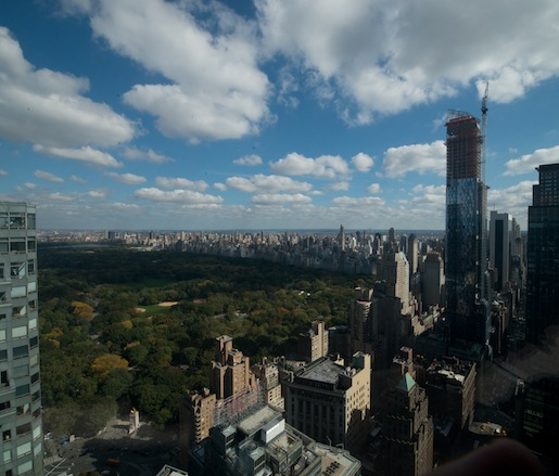 The view from the top of Hearst Tower