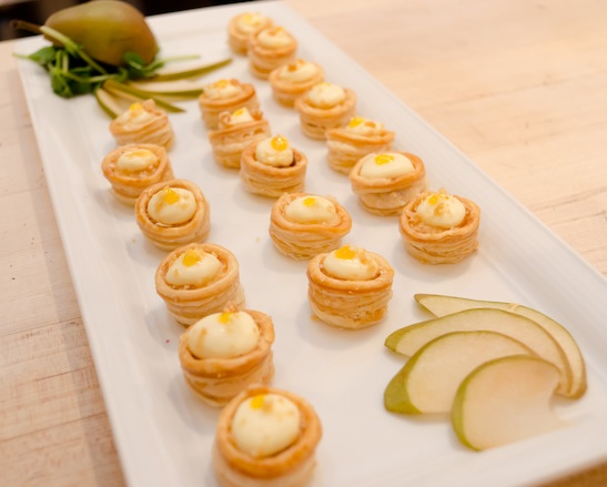 Champlain Valley Creamery Triple Cream Vol-au-Vent with Apple Butter and Habanero Jelly