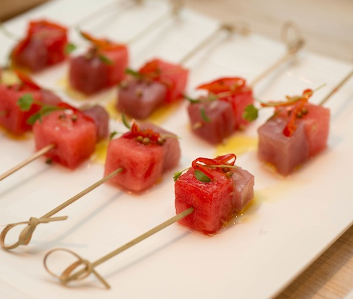 Tuna–Watermelon Spiedini with Chiles and Coriander