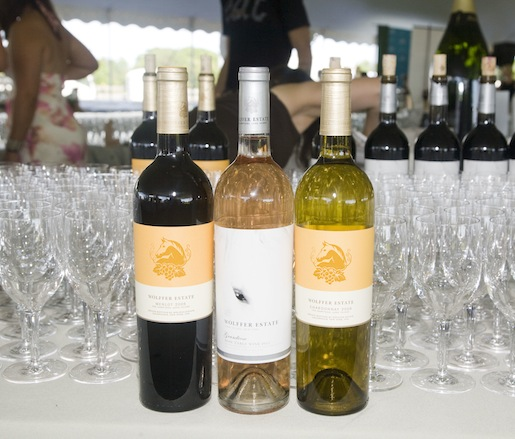 A selection of wines from Wölffer Estate Vineyard