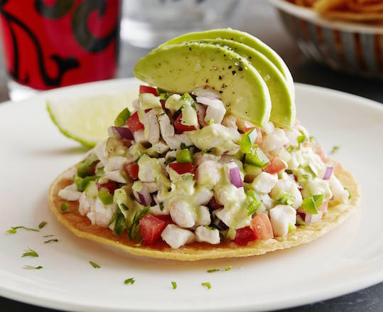 Ceviche Tostadas Recipe — Dishmaps