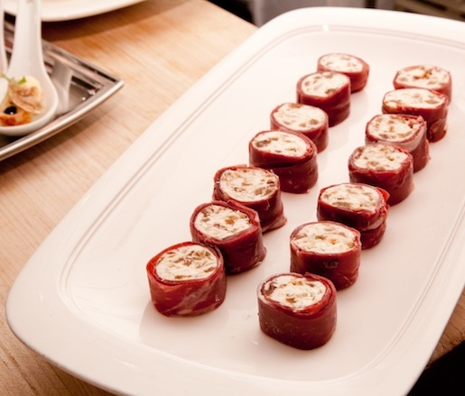 Housemade Duck Prosciutto Wrapped–Goat Cheese