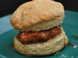 Abraham Salum's Fried Chicken Biscuit Sandwiches with Wildflower Honey and Chile Flakes, adpated by the James Beard Foundation