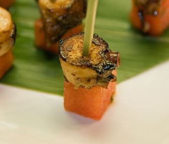 Spicy Grilled Octopus and Watermelon Skewers | James Beard Foundation
