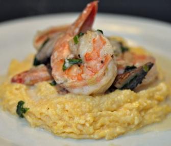 Spiced Shrimp with Smoked Gouda Grits | James Beard Foundation