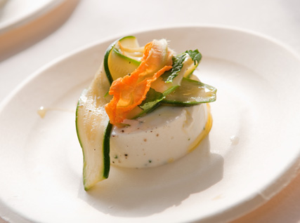 Missy Robbins's Ricotta Sformato with Zucchini, Mint, and Lemon