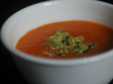 Chilled tomato soup