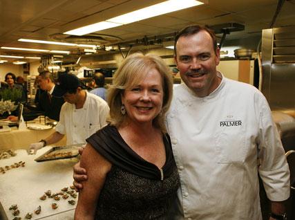 JBF president Susan Ungaro and Charlie Palmer