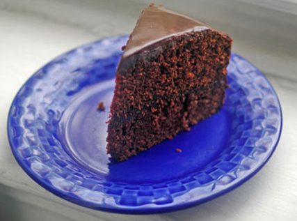 Chocolate–Pumpkin Cake with Cinnamon Ganache