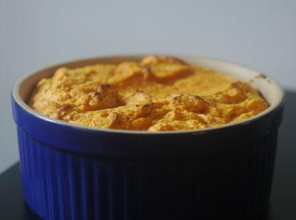 Savory pumpkin soufflé